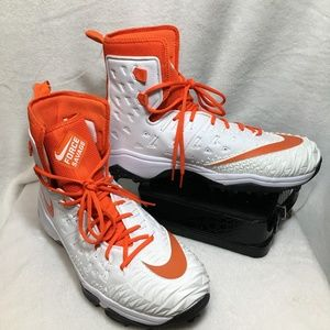 Nike Orange/White Force Savage Football Cleats